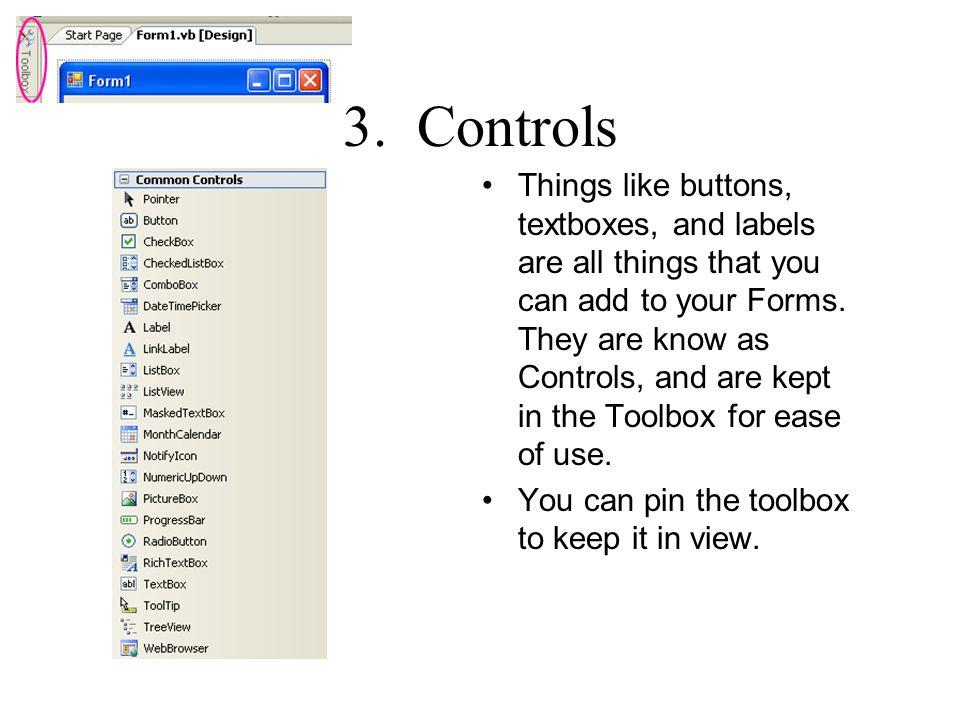 3. Controls