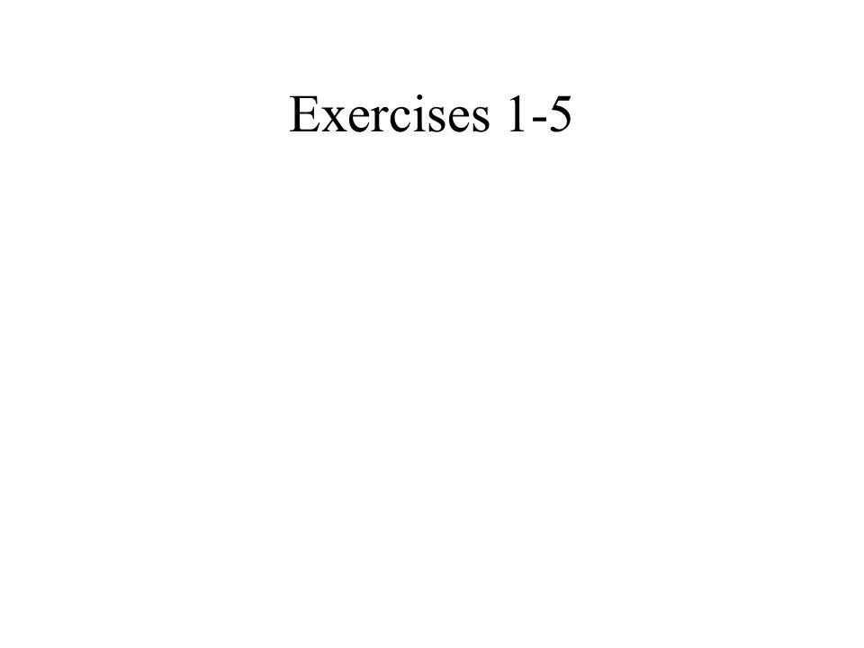Exercises 1-5