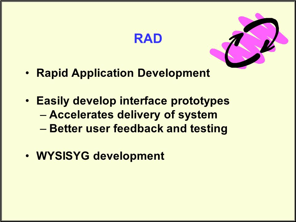 RAD Rapid Application Development Easily develop interface prototypes
