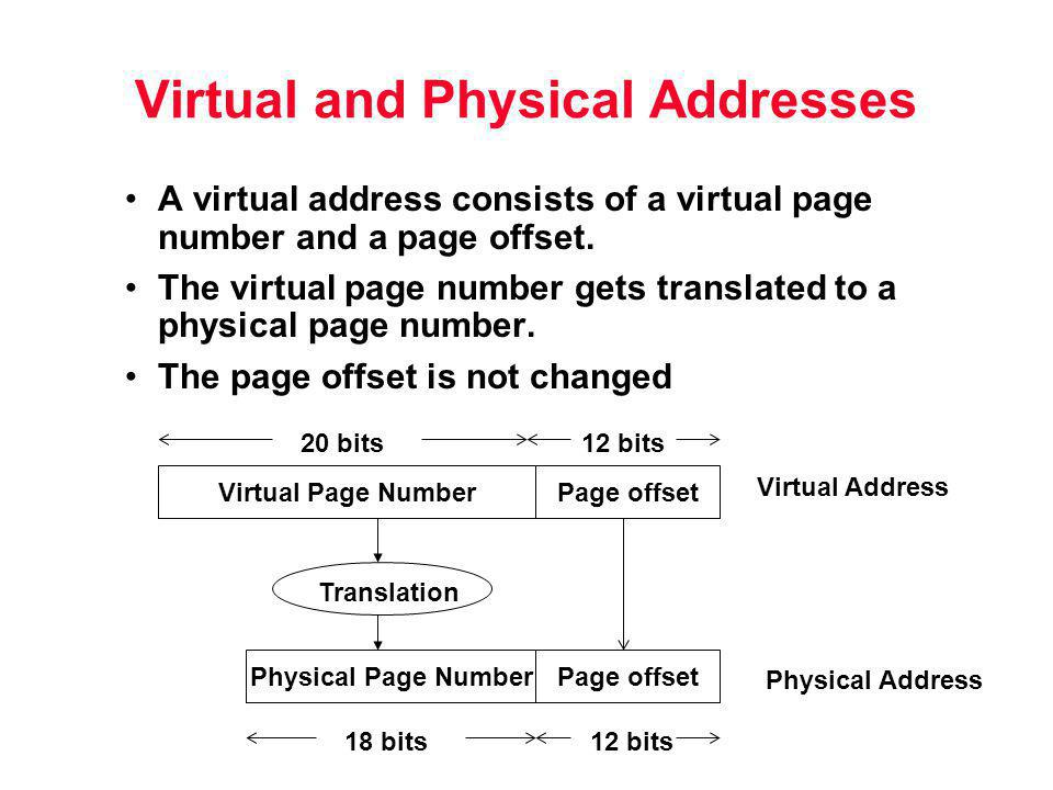 Virtual and Physical Addresses