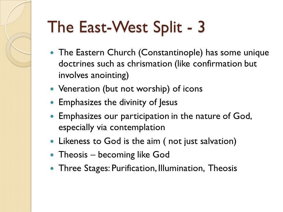 The East-West Split - 3