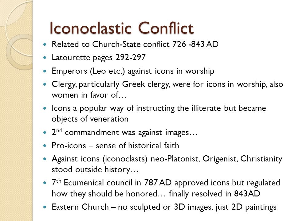 Iconoclastic Conflict