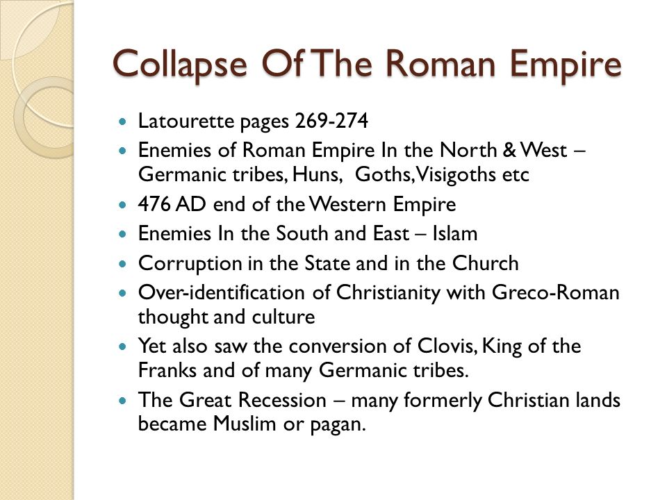 Collapse Of The Roman Empire