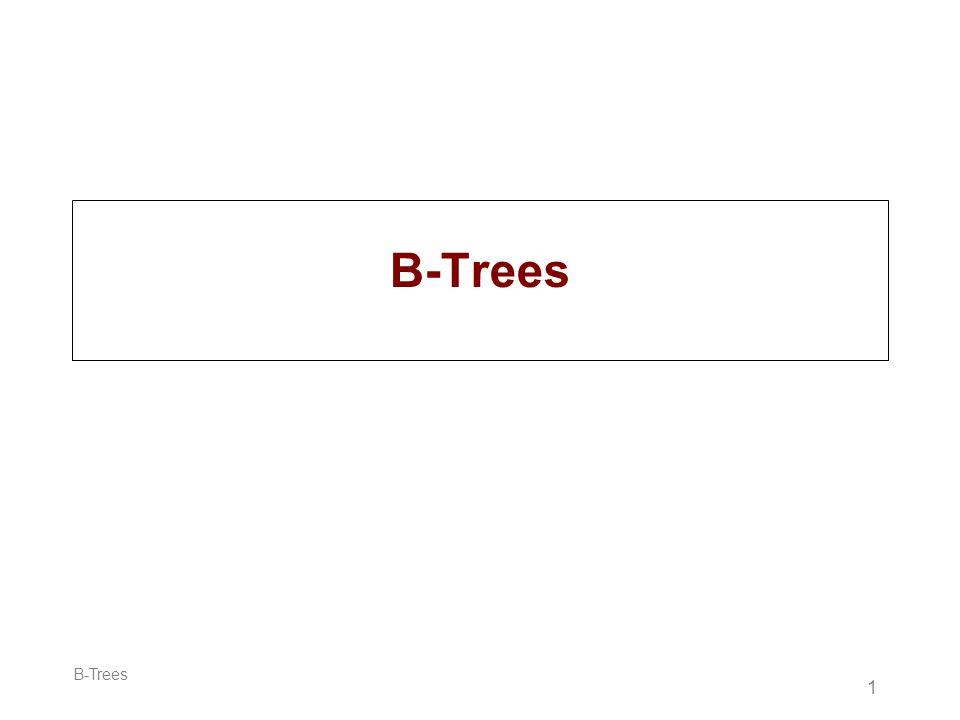 B-Trees B-Trees