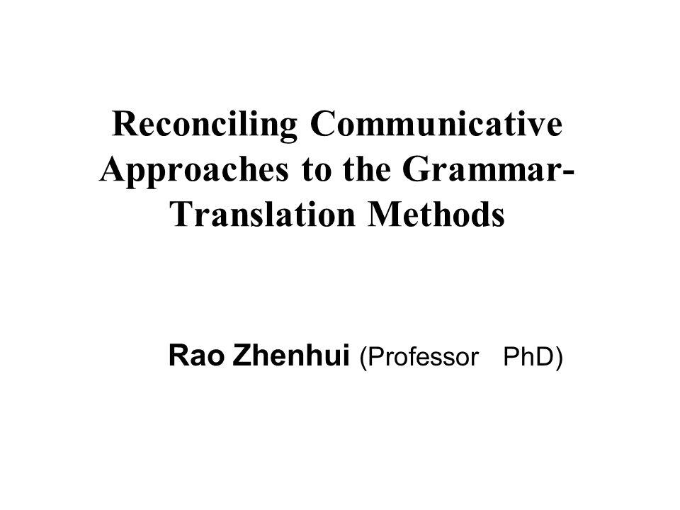Rao Zhenhui (Professor PhD)