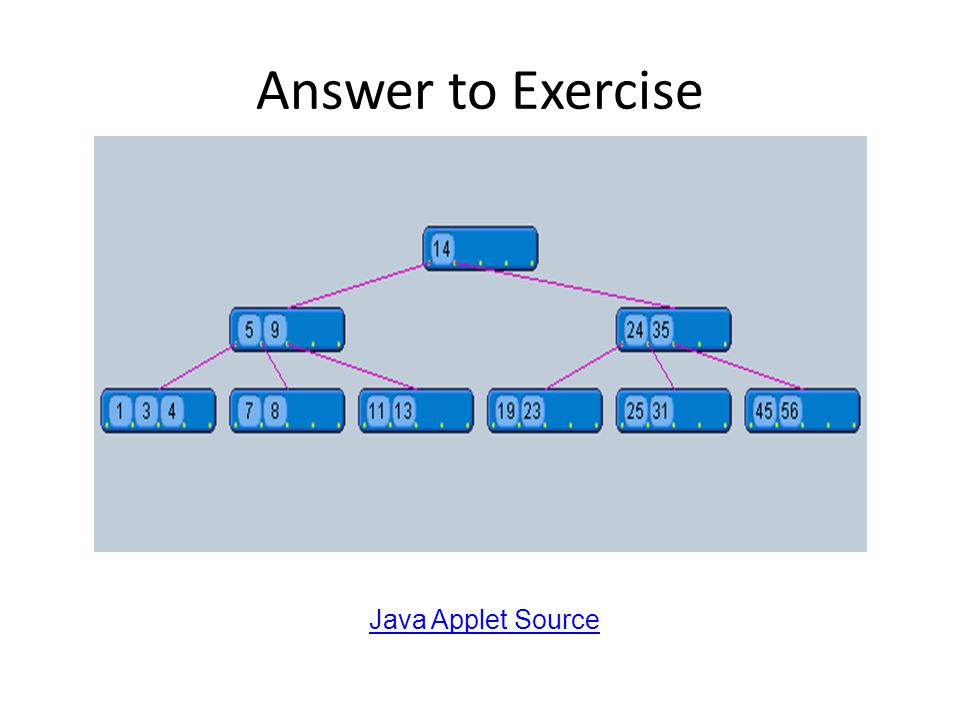 Answer to Exercise Java Applet Source