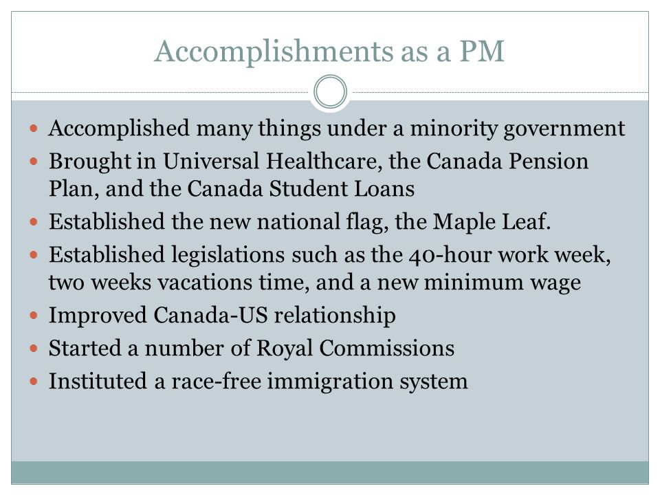 Accomplishments as a PM