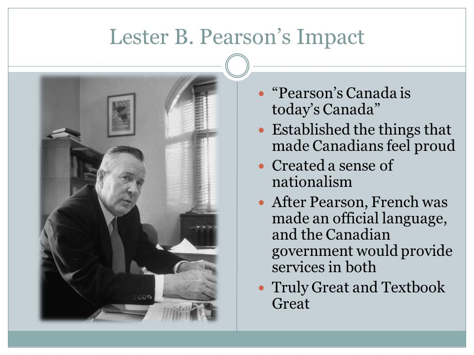 Lester B. Pearson's Impact