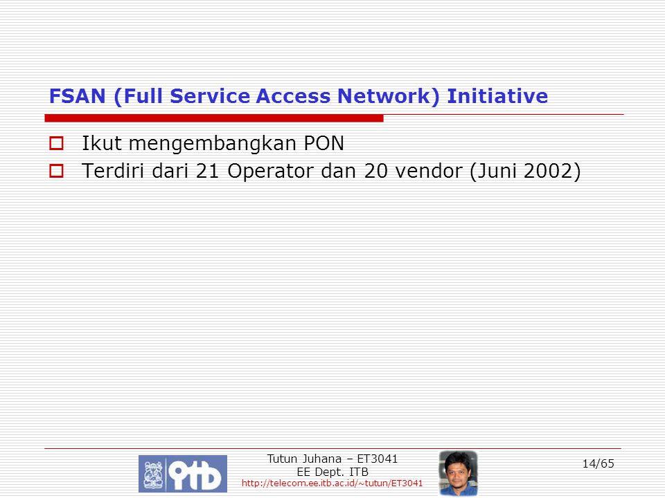 FSAN (Full Service Access Network) Initiative