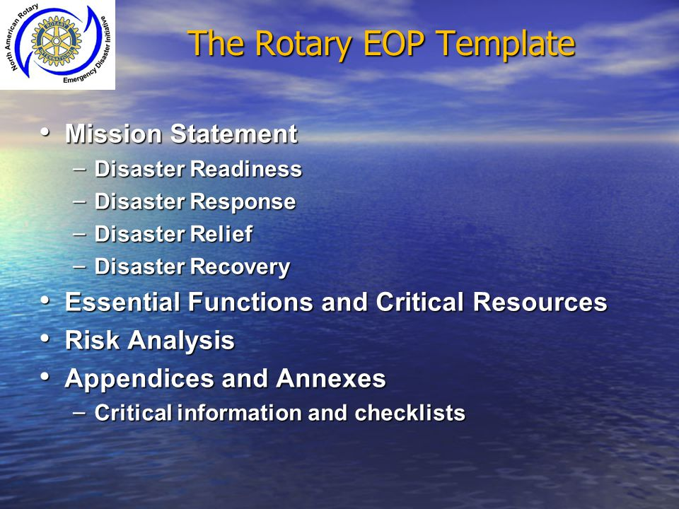 The Rotary EOP Template