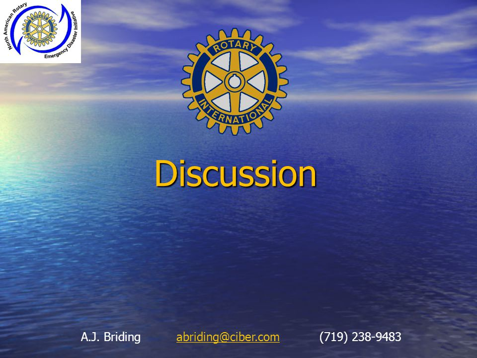Discussion A.J. Briding abriding@ciber.com (719) 238-9483