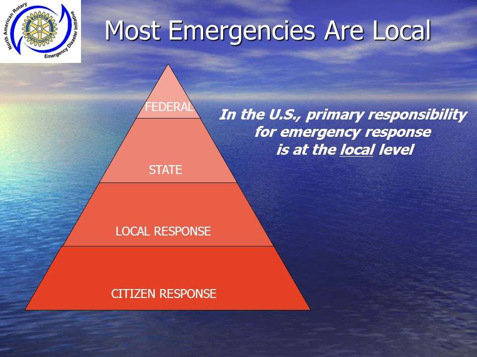 Most Emergencies Are Local