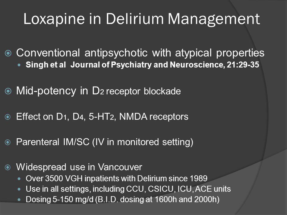 Loxapine in Delirium Management