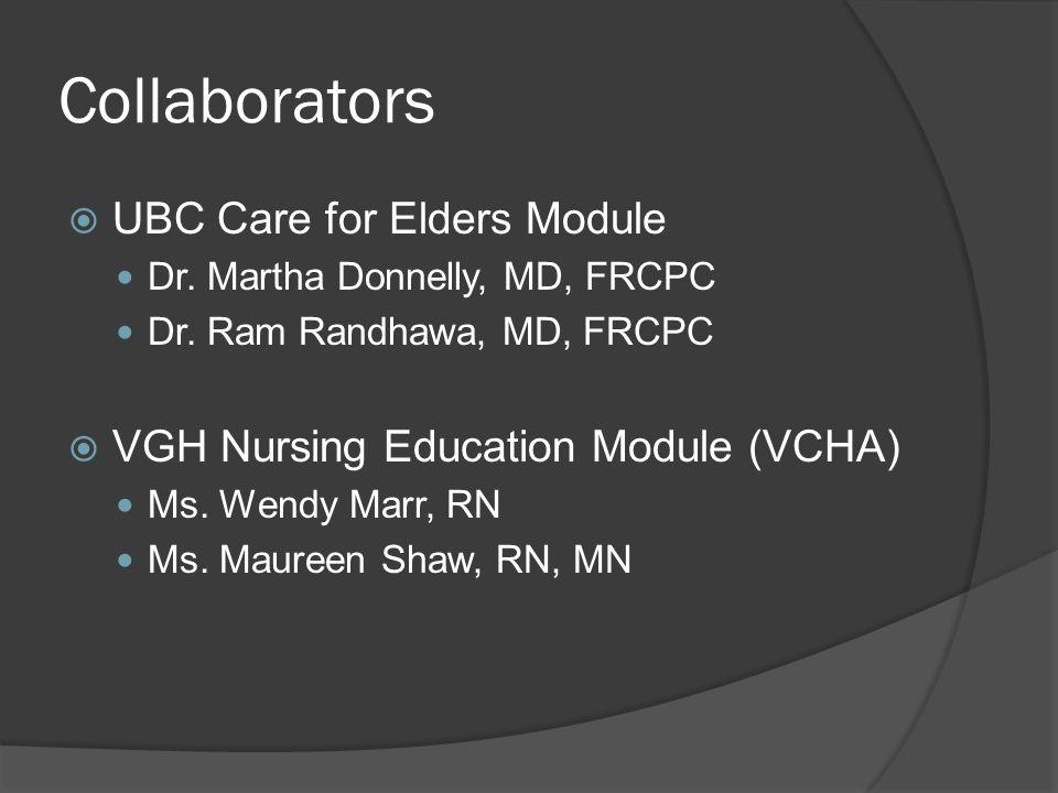 Collaborators UBC Care for Elders Module