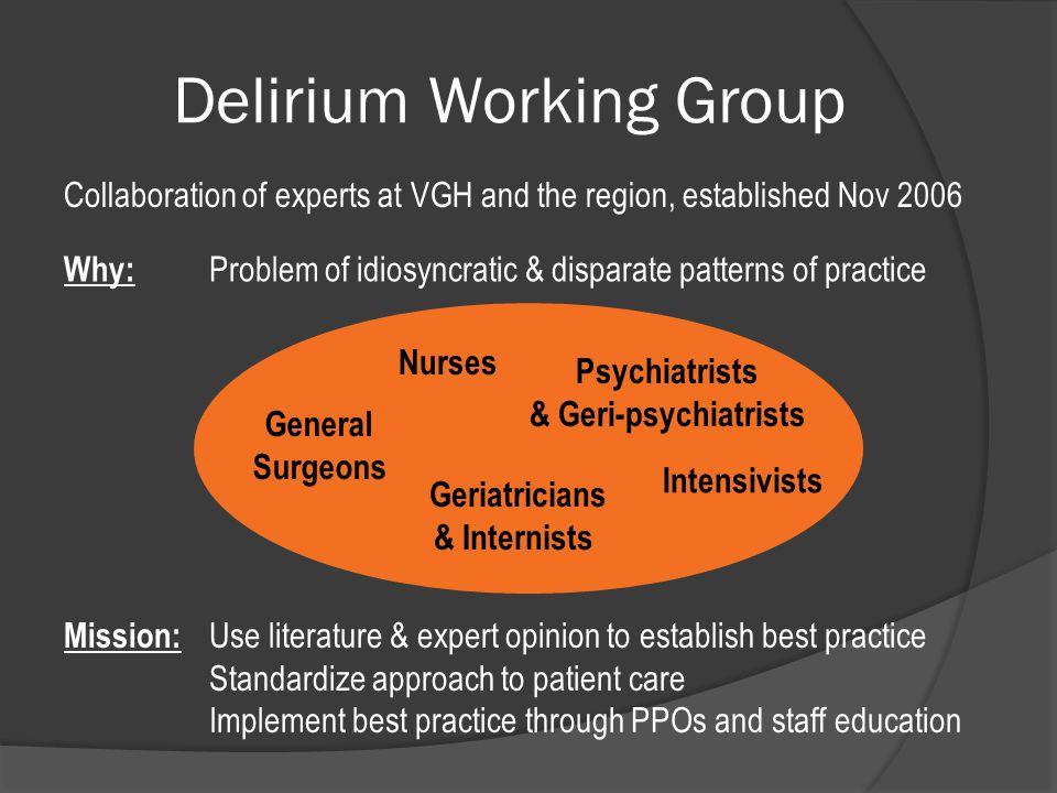 Delirium Working Group