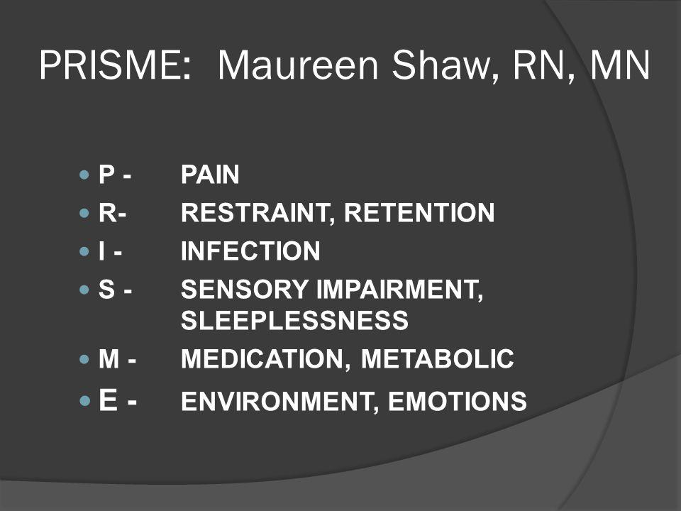 PRISME: Maureen Shaw, RN, MN