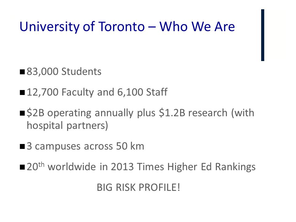 University of Toronto – Who We Are