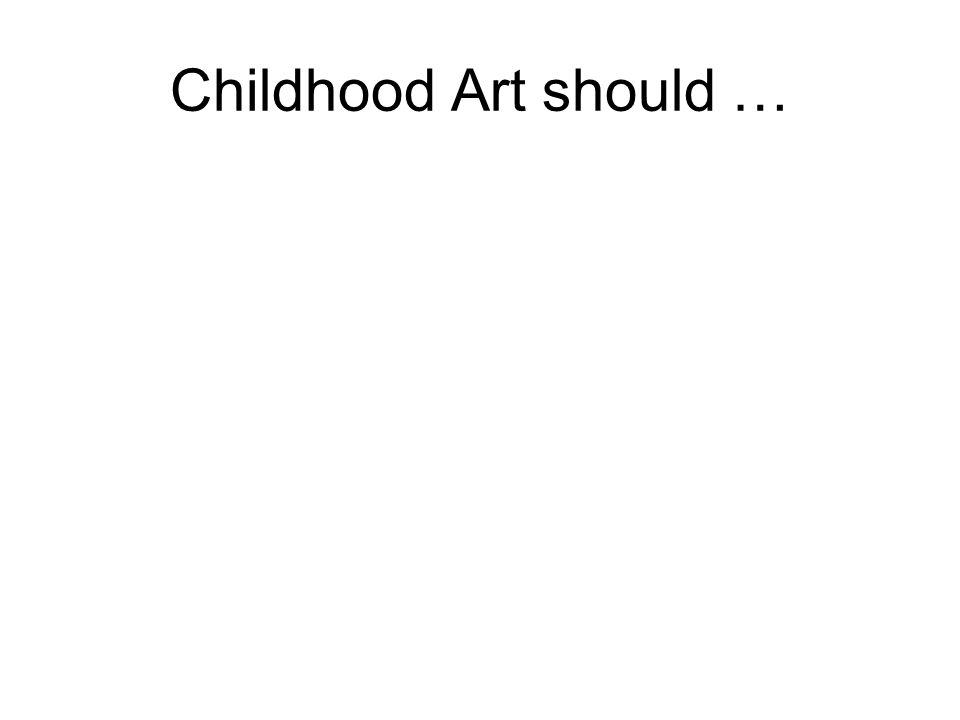 Childhood Art should …