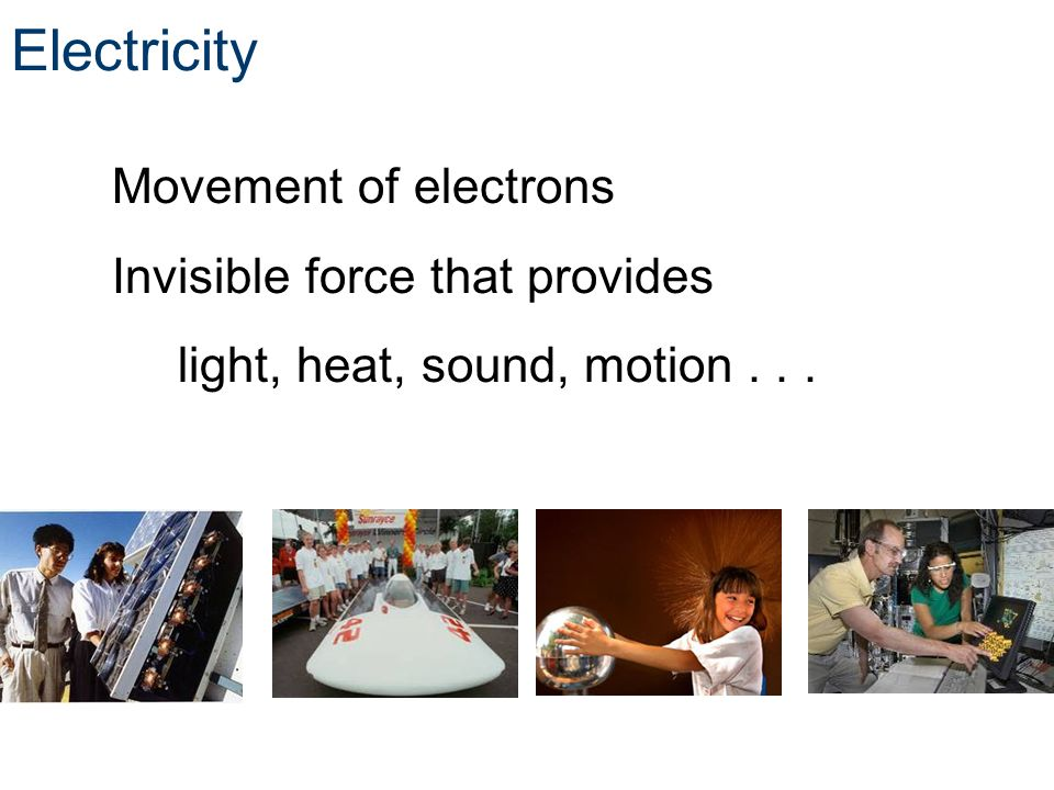 Electricity Invisible force that provides
