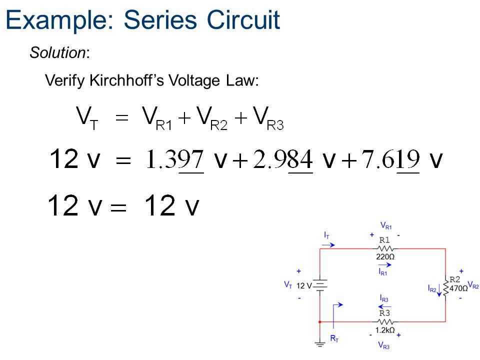 Example: Series Circuit