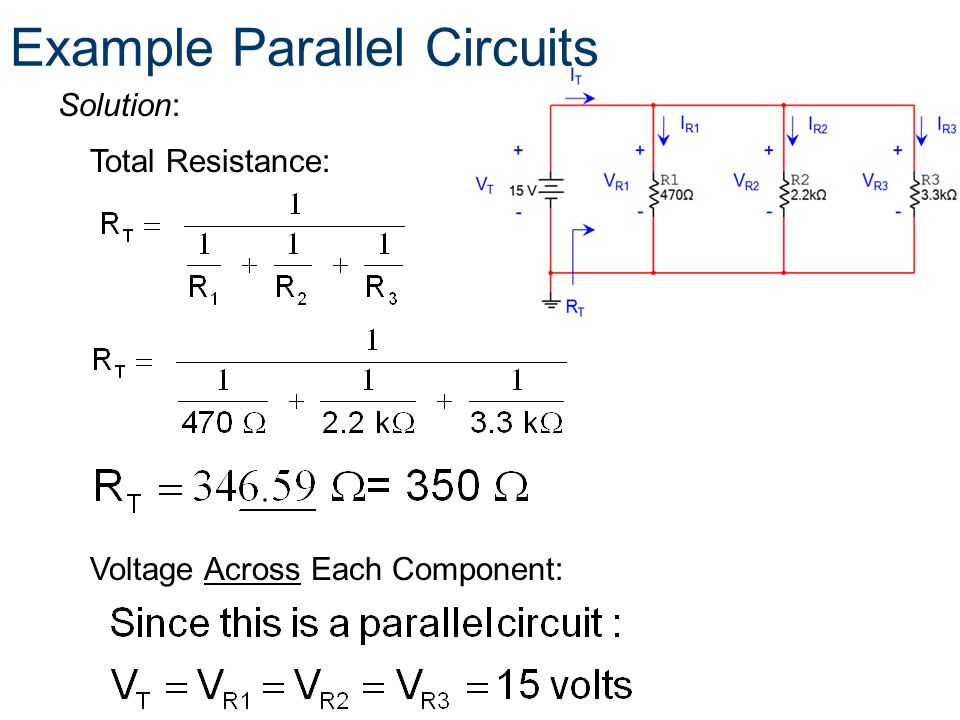 Example Parallel Circuits