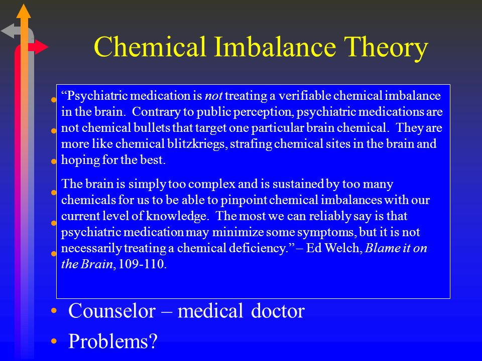 Chemical Imbalance Theory