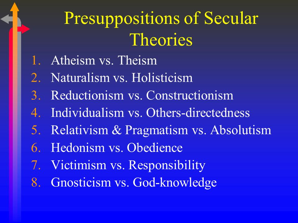 Presuppositions of Secular Theories