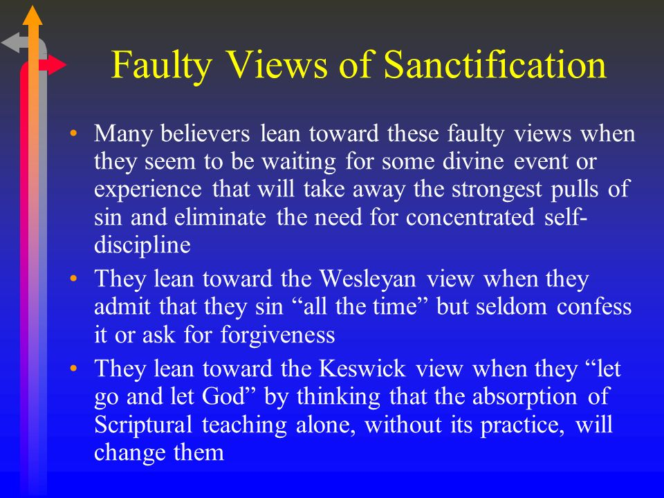 Faulty Views of Sanctification