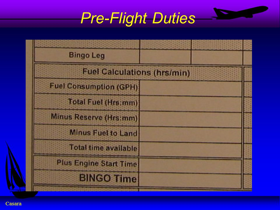 Pre-Flight Duties