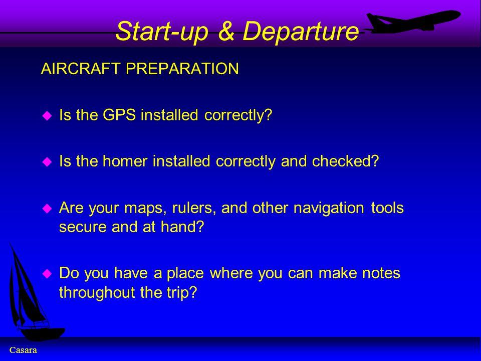 Start-up & Departure AIRCRAFT PREPARATION
