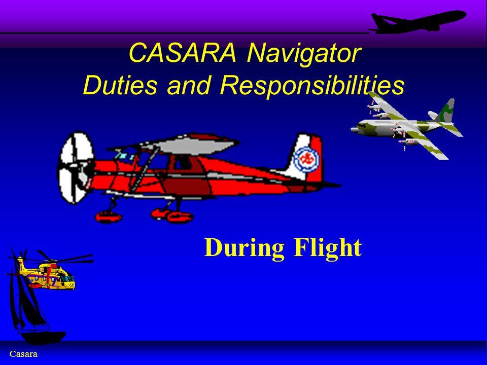 CASARA Navigator Duties and Responsibilities