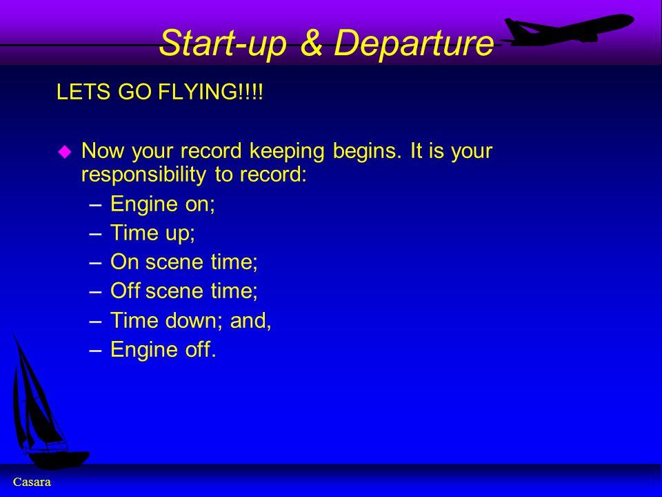 Start-up & Departure LETS GO FLYING!!!!