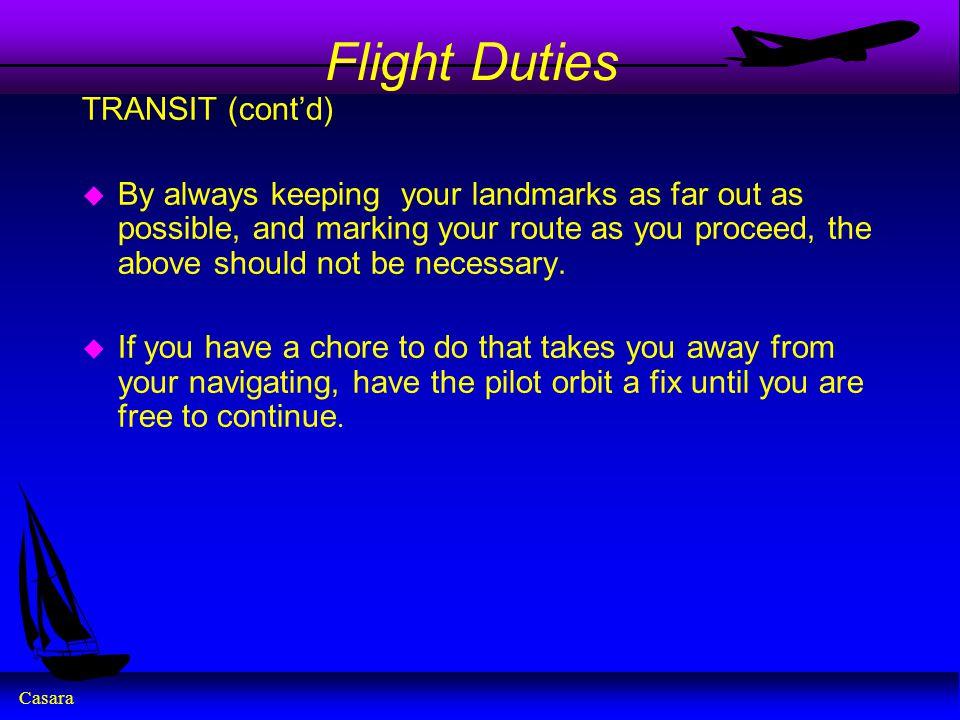 Flight Duties TRANSIT (cont'd)
