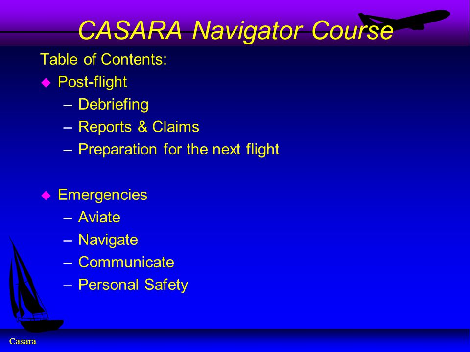 CASARA Navigator Course