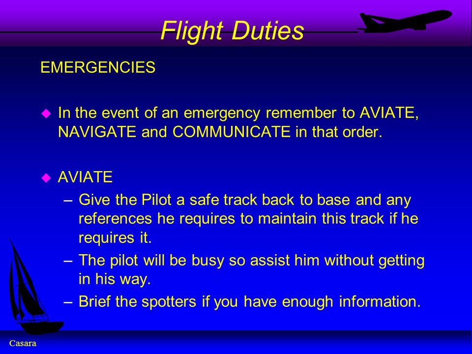 Flight Duties EMERGENCIES