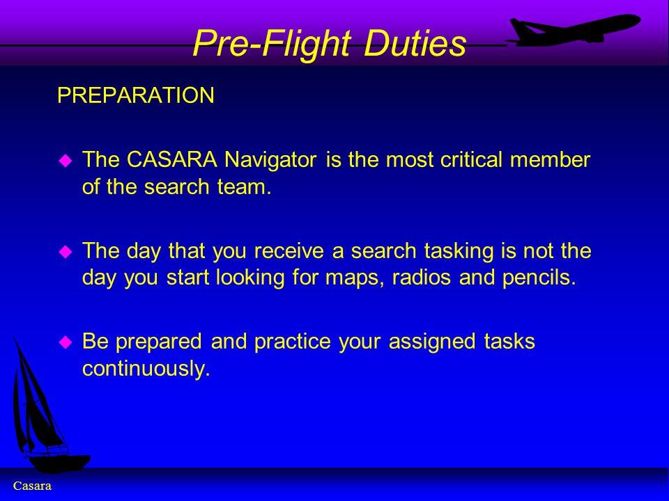 Pre-Flight Duties PREPARATION