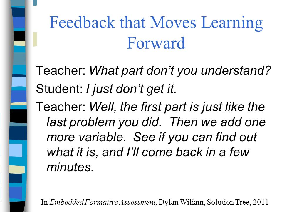Feedback that Moves Learning Forward