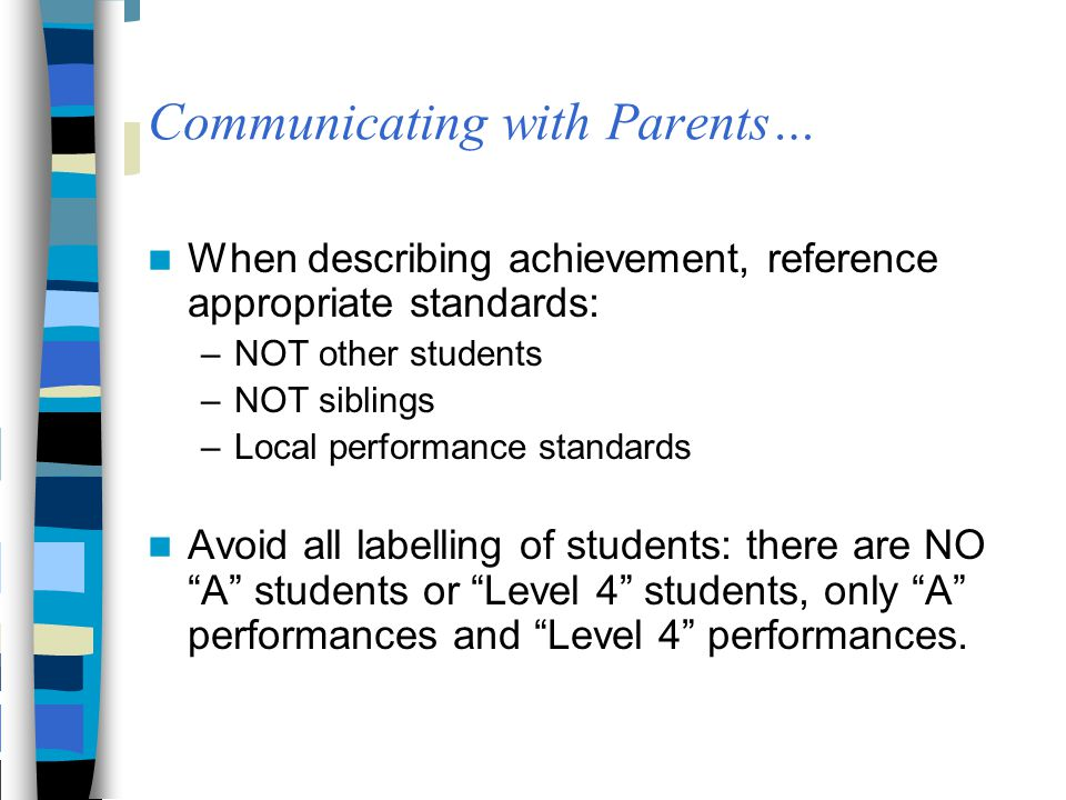Communicating with Parents…