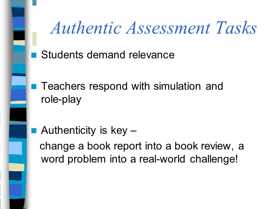 Authentic Assessment Tasks