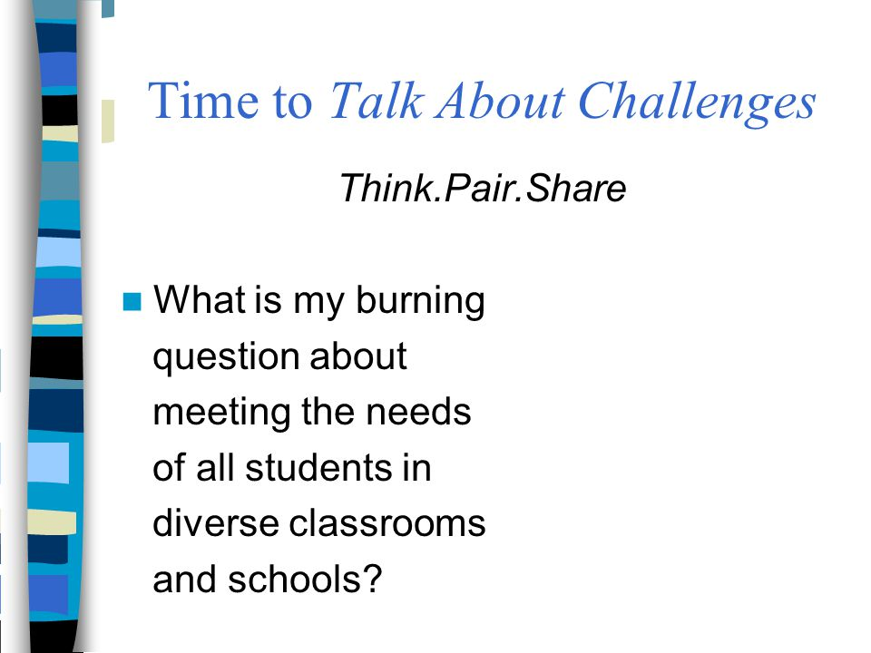 Time to Talk About Challenges