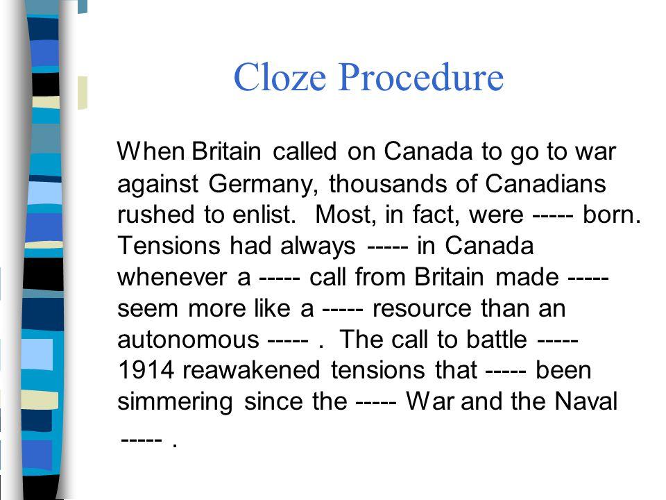 Cloze Procedure