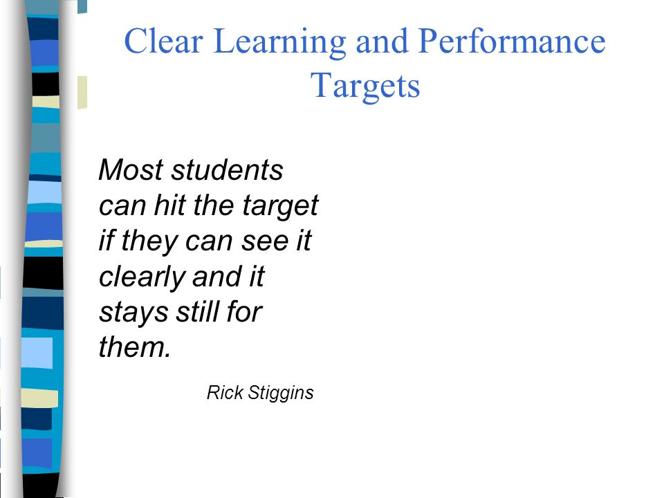Clear Learning and Performance Targets