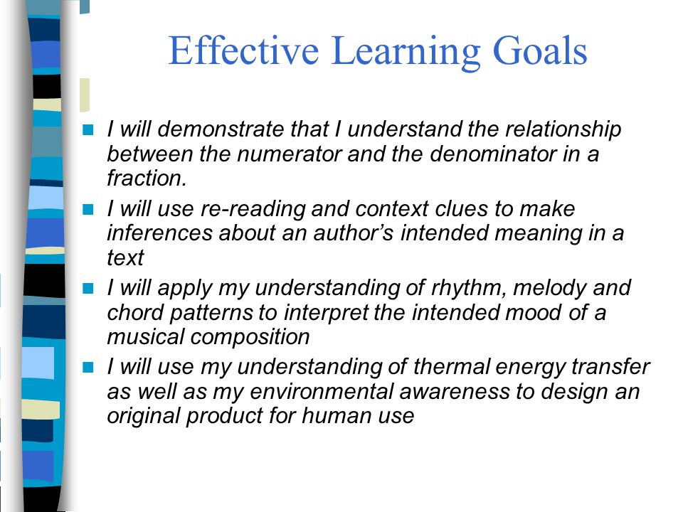 Effective Learning Goals