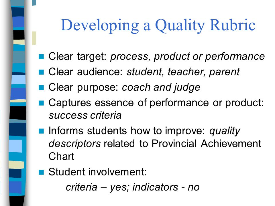 Developing a Quality Rubric