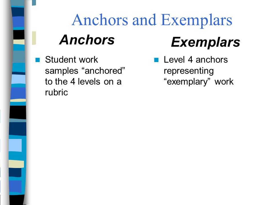 Anchors and Exemplars Anchors Exemplars