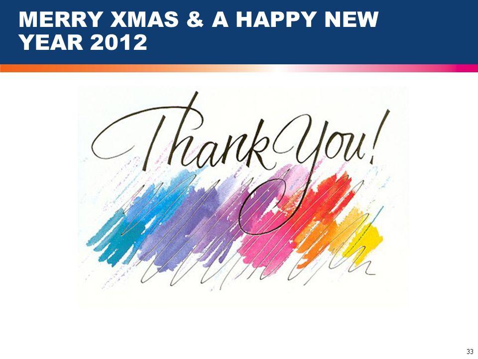 MERRY XMAS & A HAPPY NEW YEAR 2012