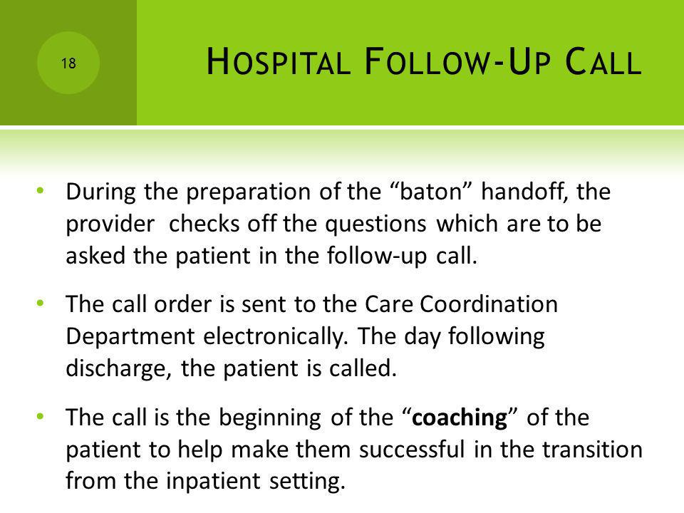 Hospital Follow-Up Call