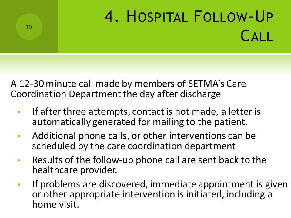 4. Hospital Follow-Up Call