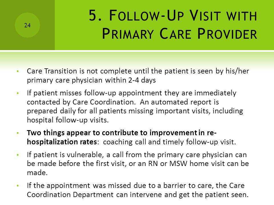 5. Follow-Up Visit with Primary Care Provider