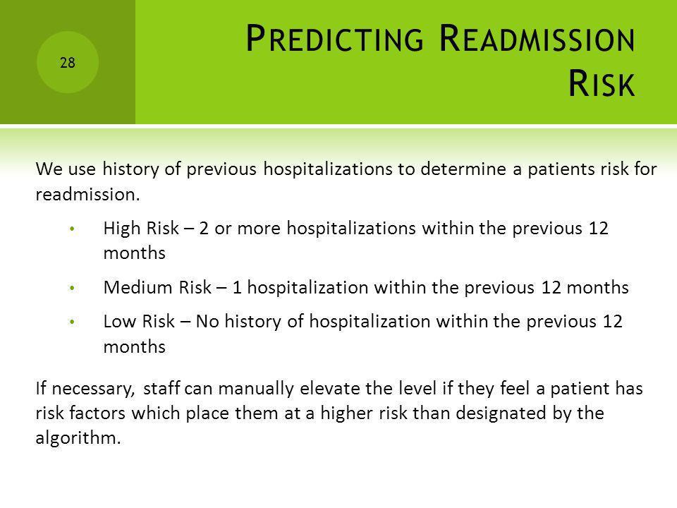 Predicting Readmission Risk